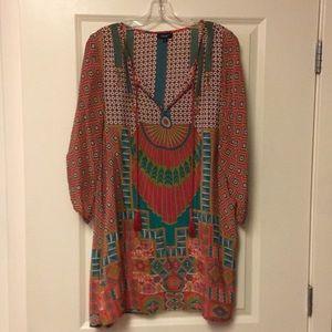 Silk Anthropologie tunic